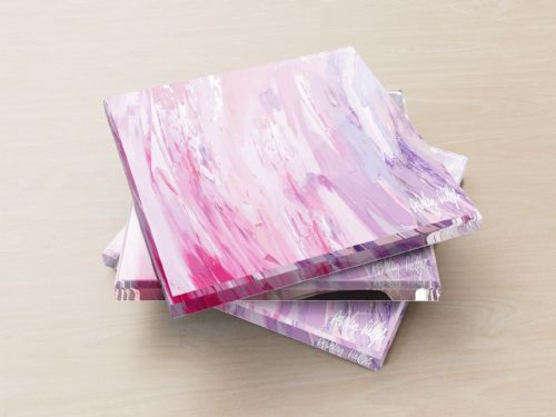 Sonic Wave Pink - Glass Coasters